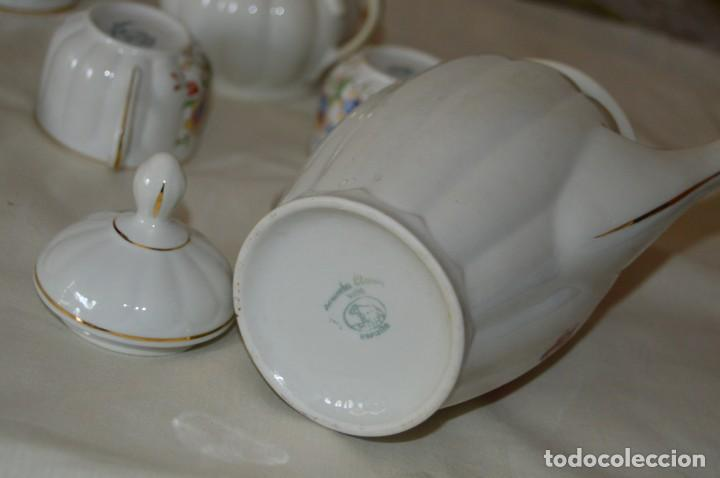 Antigüedades: VINTAGE - Como NUEVO, JUEGO CAFÉ - Porcelanas SANTA CLARA - VIGO - AÑOS 60 ¡Mira! - Foto 16 - 169969952