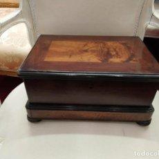 Antigüedades: CAJA CAOBA CIRCA 1900. Lote 169971468