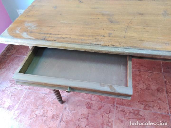 Antigüedades: ESCRITORIO DE MADERA grande y antiguo - Foto 3 - 169978248