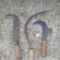 Antigüedades: LOTE DE 3 HERRAMIENTAS ANTIGUAS. Lote 170014704