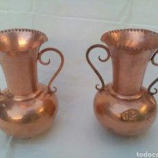 Antigüedades: JARRAS DE COBRE 2. Lote 170015182
