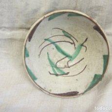Antigüedades: CUENCO DE TERUEL EN VERDE Y MANGANESO, DEL SIGLO XIX. Lote 170022500