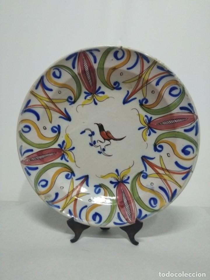 PRECIOSO PLATO DE MANISES, PARDALOT, SIGLO XIX. 31 CM. MUY BUEN ESTADO (Antigüedades - Porcelanas y Cerámicas - Manises)