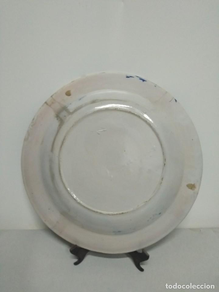 Antigüedades: Precioso plato de Manises, pardalot, siglo XIX. 31 cm. Muy buen estado - Foto 3 - 170032984