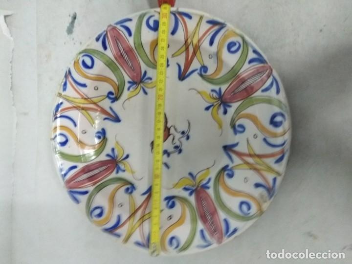 Antigüedades: Precioso plato de Manises, pardalot, siglo XIX. 31 cm. Muy buen estado - Foto 4 - 170032984