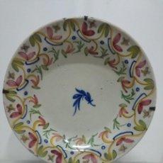 Antigüedades: PRECIOSO PLATO DE MANISES, SIGLO XIX. 34 CM. BUEN ESTADO. Lote 170033152