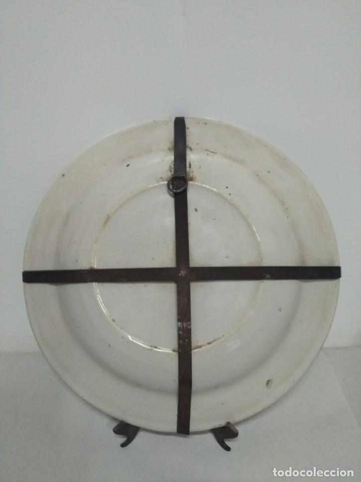 Antigüedades: Precioso plato de Manises, siglo XIX. 34 cm. buen estado - Foto 4 - 170033152