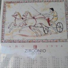 Antigüedades: AZULEJO CERAMICA FABRICA ZIRCONIO CALENDARIO AÑO 1994 DECORADO CARRO, DECORATIVO, COLECCION. Lote 170040560