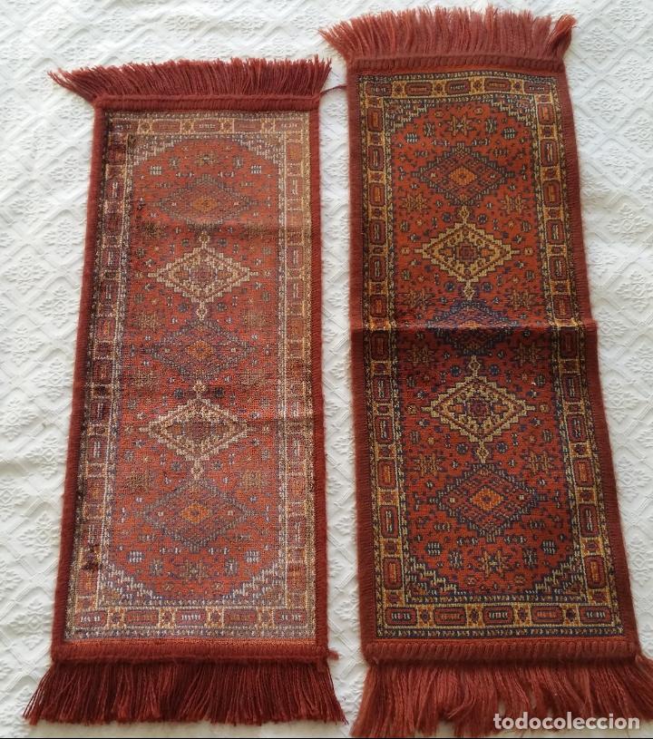 Antigüedades: Pareja alfombras miniatura - Foto 2 - 170048653