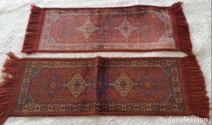Antigüedades: Pareja alfombras miniatura - Foto 3 - 170048653