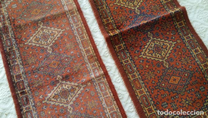 Antigüedades: Pareja alfombras miniatura - Foto 4 - 170048653