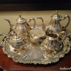Antigüedades: ESPECTACULAR JUEGO DE CAFE Y THE DE PLATA DE LEY MILAN DE PASGORCY. Lote 163328574