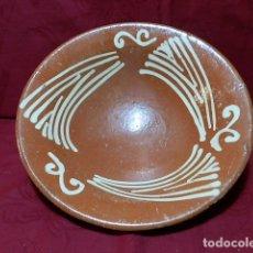 Antigüedades: ANTIGUO PLATO DE BARRO 26'5 CM DIAMETRO. Lote 170059640