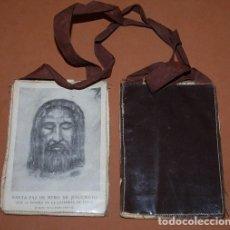 Antigüedades: ESCAPULARIO DEL SIGLO XX SANTO ROSTRO DE CRISTO SABANA SANTA 1971. Lote 170059998