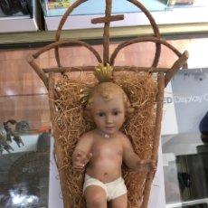 Antigüedades: NIÑO JESUS OLOT OJOS DE CRISTAL. Lote 170060958