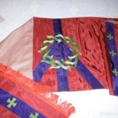 Antigüedades: ANTIGUO VELO HUMERAL BORDADO, PAÑO DE HOMBROS.. Lote 170063848