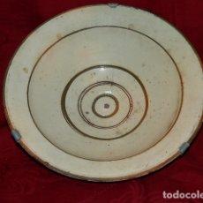 Antigüedades: ANTIGUO PLATO DE BARRO 24 CM DIAMETRO. Lote 170064236