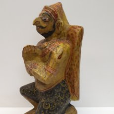 Antigüedades: FIGURA MADERA POLICROMADA. Lote 170066020