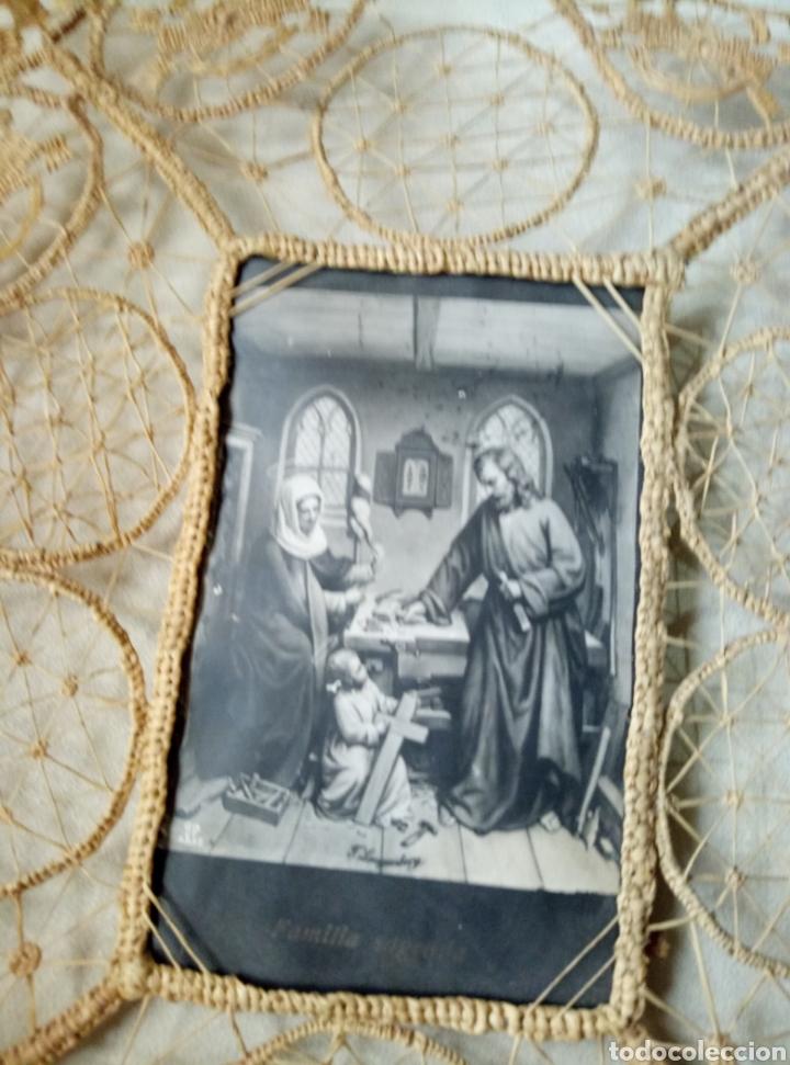 SAGRADA FAMILIA FILIGRANA (Antigüedades - Religiosas - Varios)