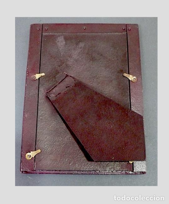 Antigüedades: PORTAFOTOS ANTIGUO EN PIEL CON EL BORDE EN ORO - Foto 4 - 170087300