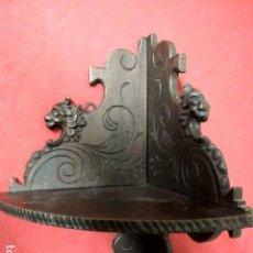 Antigüedades: ANTIGUA PEANA REPISA DE MADERA. Lote 170091441