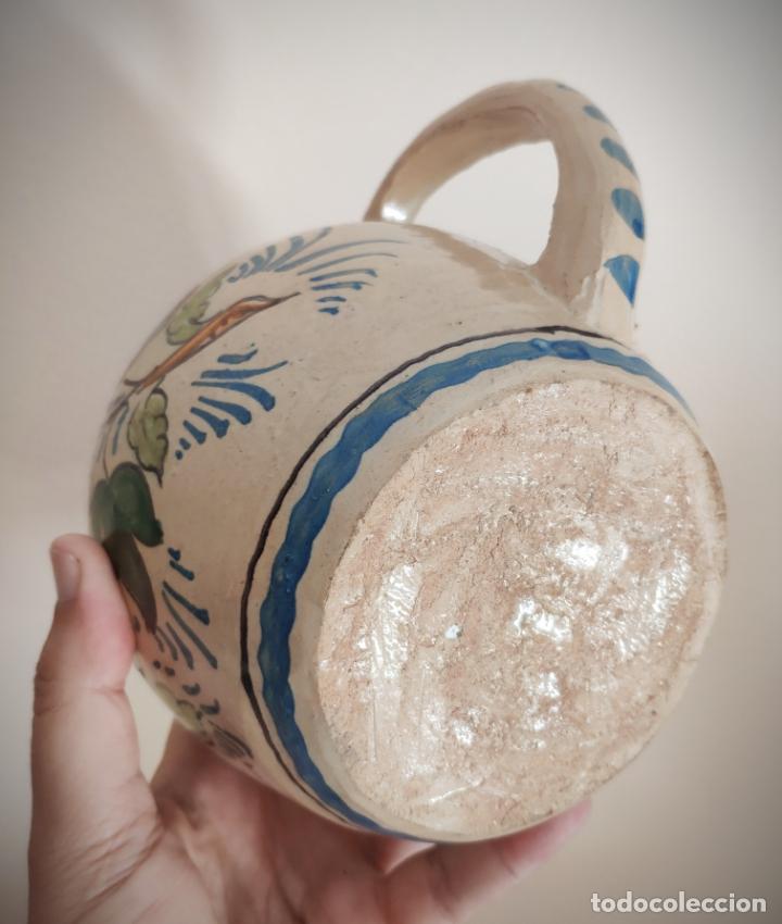 Antigüedades: ANTIGUA JARRA SANTA ANA TRIANA - 17 CM. ALTURA - PINTADA A MANO - FLORES - STA. ANA - Foto 9 - 170091748