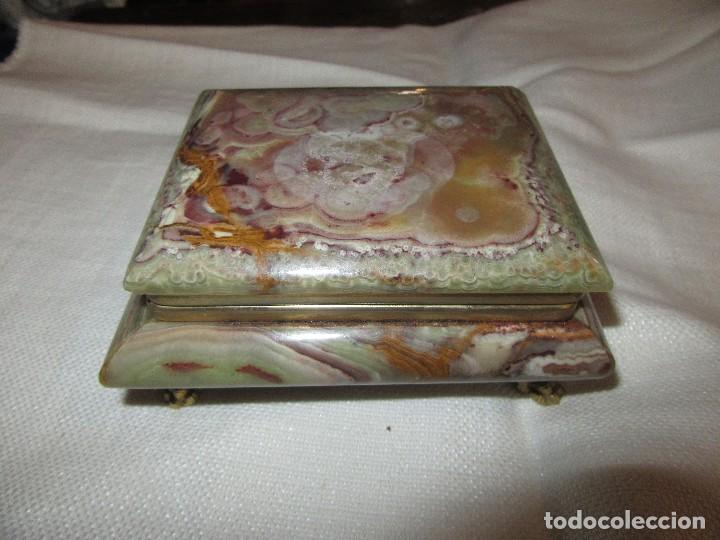 JOYERO DE ONIX (Antigüedades - Hogar y Decoración - Cajas Antiguas)