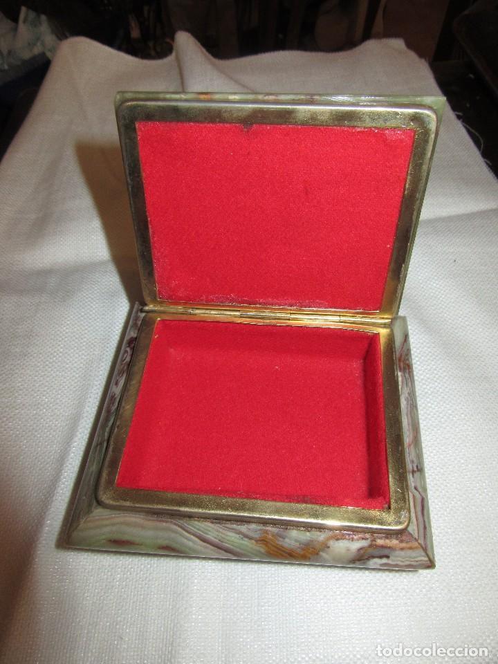 Antigüedades: JOYERO DE ONIX - Foto 2 - 170103792