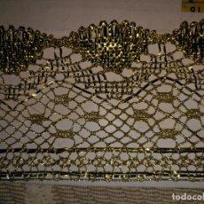 Antigüedades: 11,5 METROS X 7,5 CM ENCAJE DORADO PARA VIRGEN VIRGIN GOLDEN LACE - SEMANA SANTA EASTER. Lote 170105472