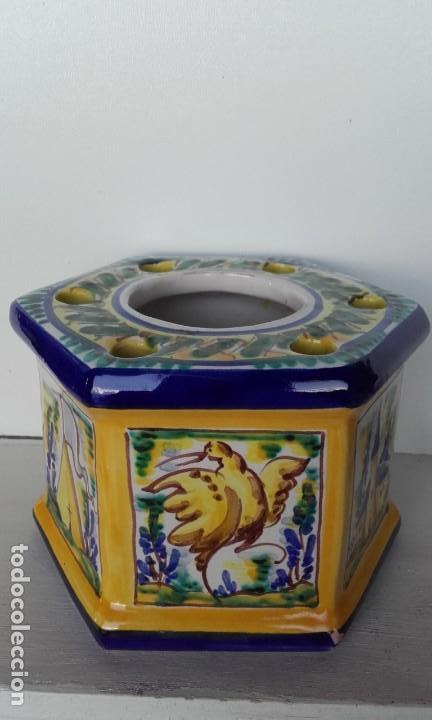 Antigüedades: Tintero cerámica Triana - Foto 2 - 170109344
