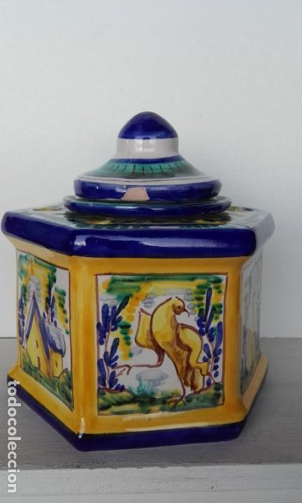 TINTERO CERÁMICA TRIANA (Antigüedades - Porcelanas y Cerámicas - Triana)