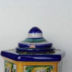 Antigüedades: TINTERO CERÁMICA TRIANA. Lote 170109344