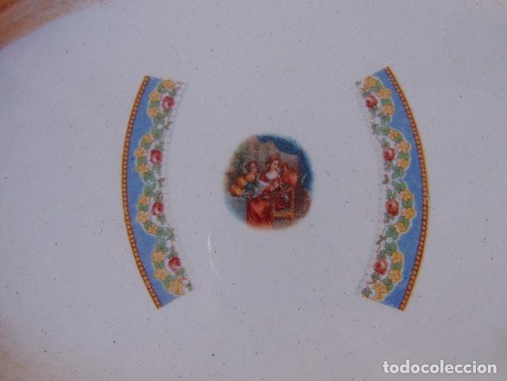 Antigüedades: FUENTE DE PORCELANA CERAMICA DE SAN JUAN DE AZNALFARACHE SEVILLA SELLADO TOQUES - Foto 2 - 170109996