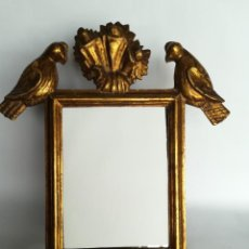 Antigüedades: ESPEJO DORADO PAN DE ORO 1928. Lote 170110552