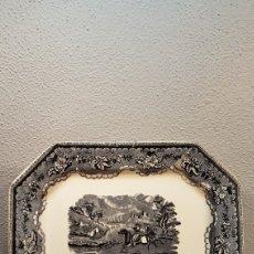 Antigüedades: BANDEJA OCHAVADA LA AMISTAD - CARTAGENA SERIE CINEGETICA SIGLO XIX. Lote 170123285
