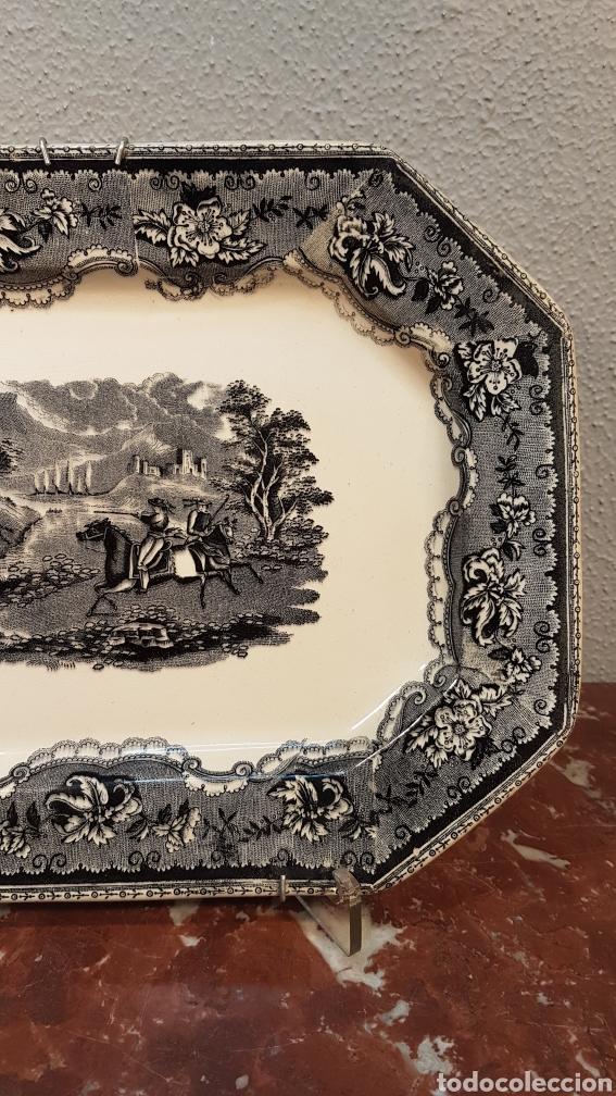 Antigüedades: BANDEJA OCHAVADA LA AMISTAD - CARTAGENA SERIE CINEGETICA SIGLO XIX - Foto 3 - 170123285