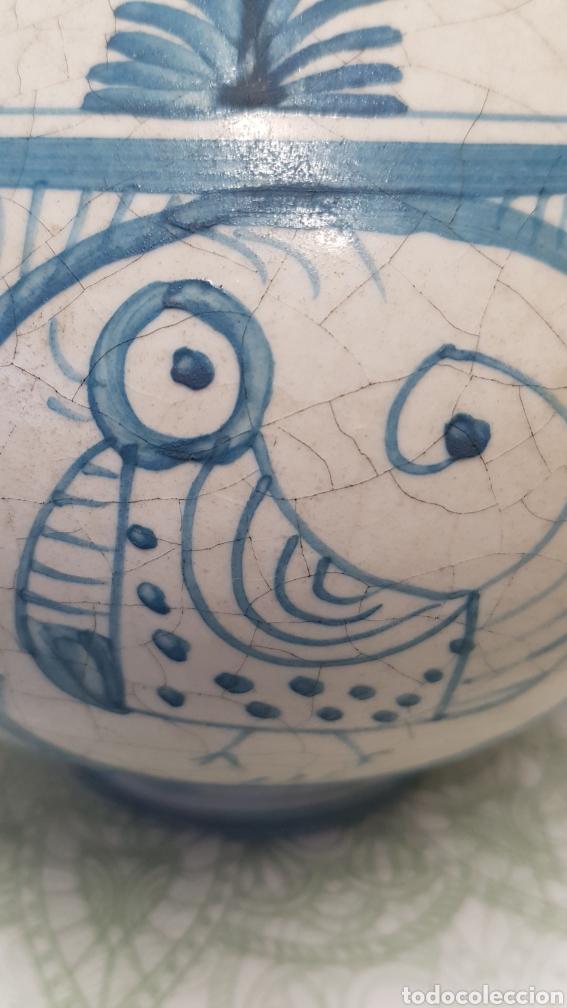Antigüedades: Jarron aguamanil de cerámica de Manises azul. - Foto 6 - 170124338