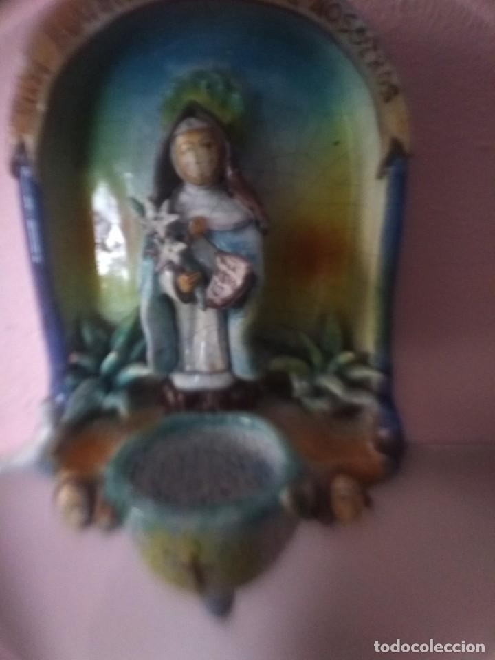 Antigüedades: Impresionante benditera antigua - Foto 2 - 170126948