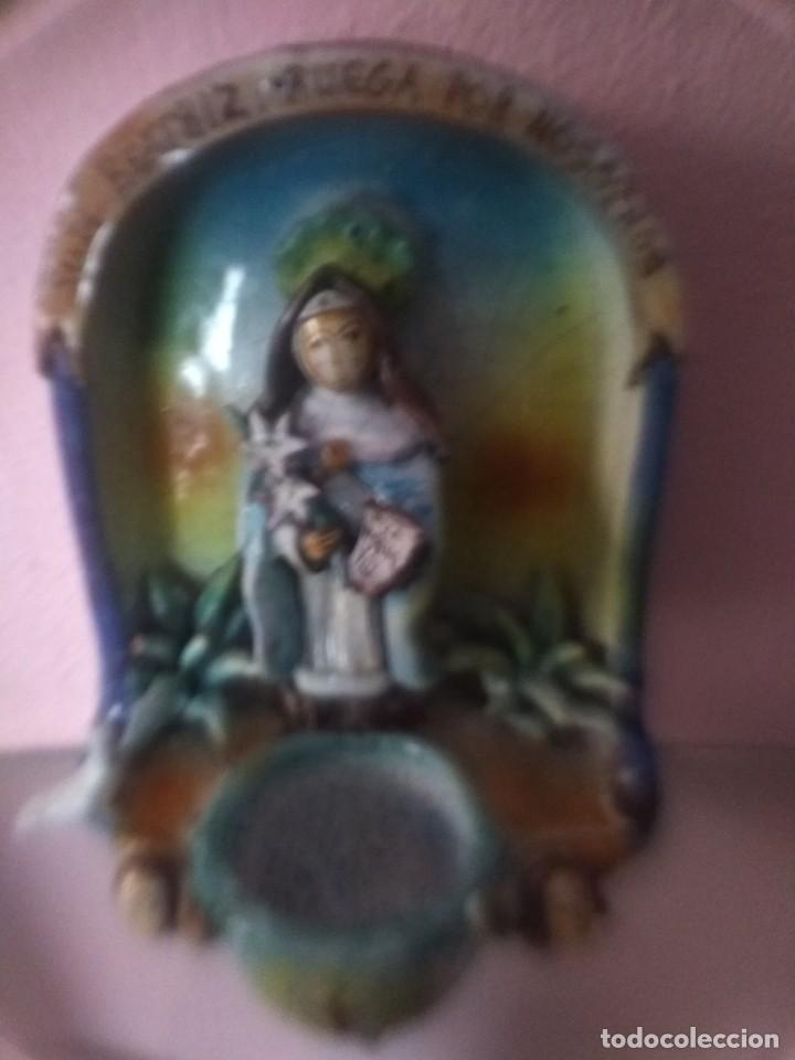 Antigüedades: Impresionante benditera antigua - Foto 3 - 170126948