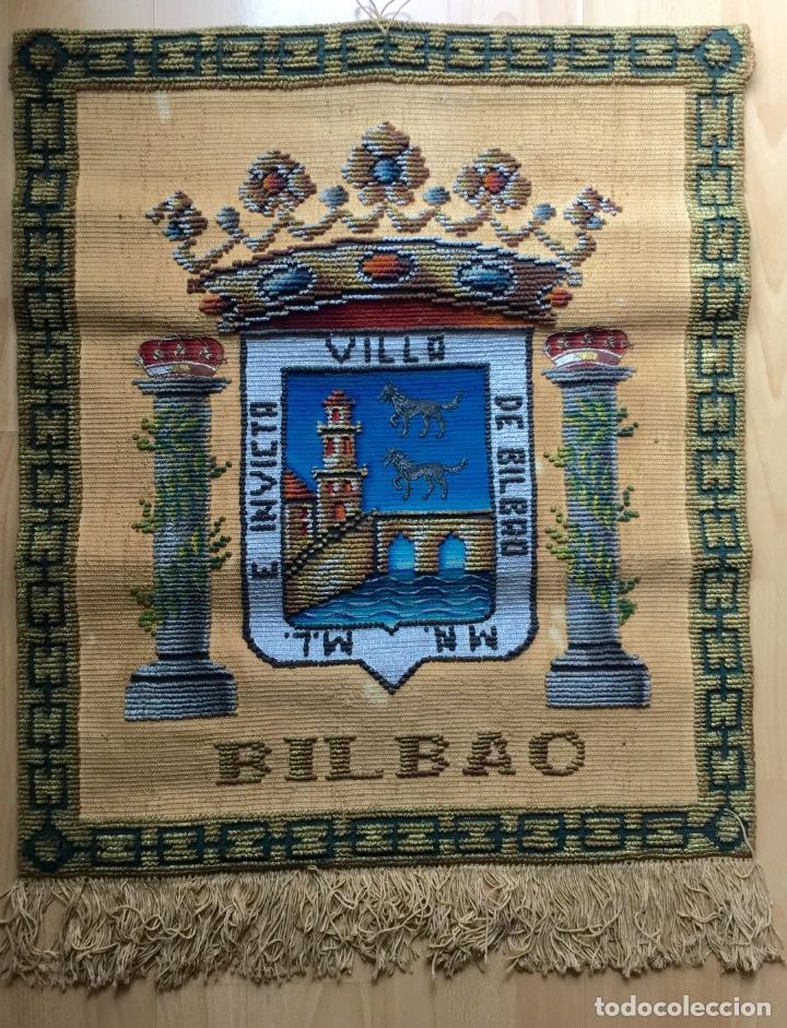 REPOSTERO TAPIZ DE BILBAO DE TAPICES ELECCIÓN (77X68CM) (Antigüedades - Hogar y Decoración - Tapices Antiguos)