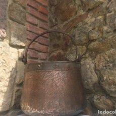 Antigüedades: CALDERO OLLA DE COBRE. Lote 170143628