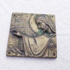 Antigüedades: PLACA DE CRISTO PARA PUERTA. Lote 170163996