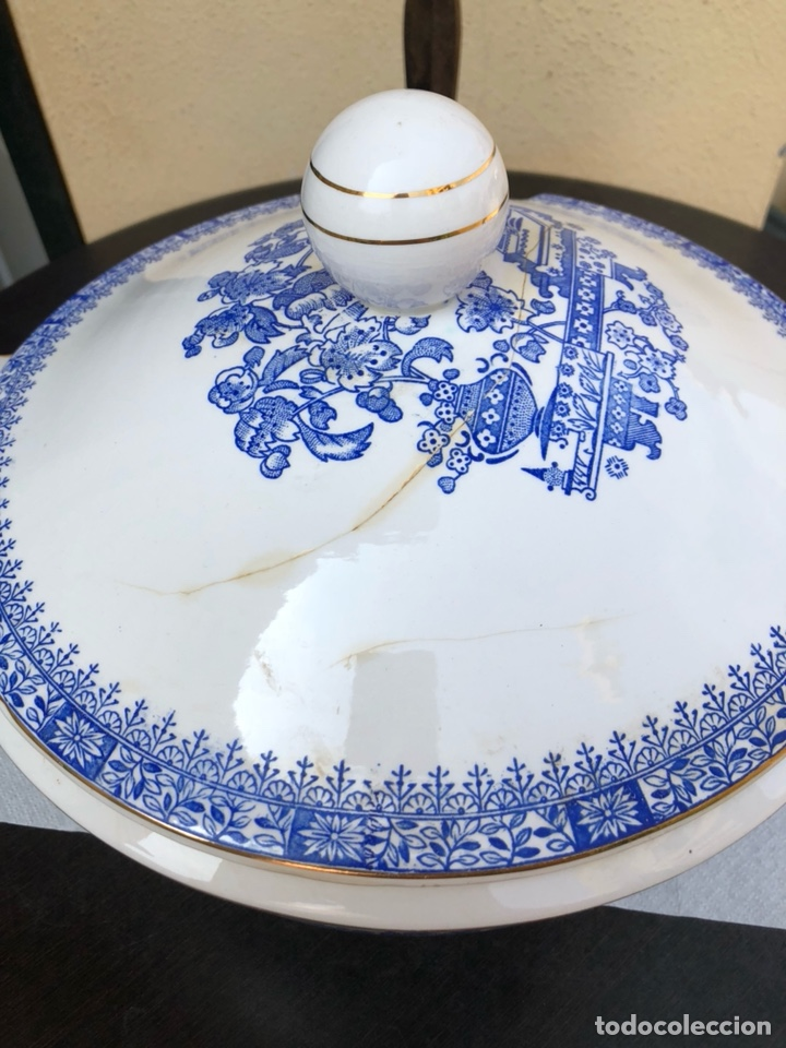 Antigüedades: Bonita sopera rosal china Vigo - Foto 2 - 170170188