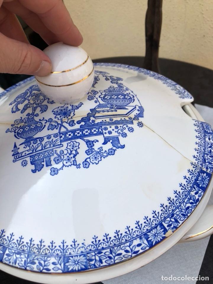 Antigüedades: Bonita sopera rosal china Vigo - Foto 3 - 170170188