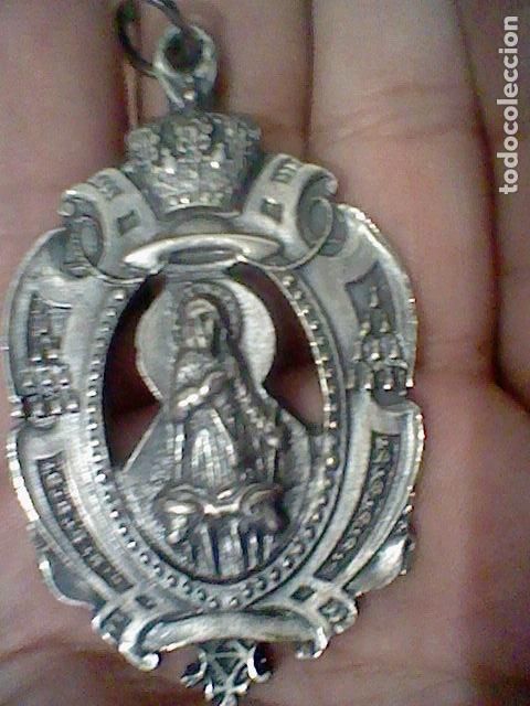 Antigüedades: TORREMOCHA SAN ISIDRO HERMANDAD MEDALLA MEDALLON PROCESIONAL O SIMILAR METAL - Foto 3 - 170176968