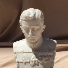 Antigüedades: FIGURA PORCELANA BISCUIT EMPERADOR FRANCISCO I AUSTRIA ,. Lote 170182244