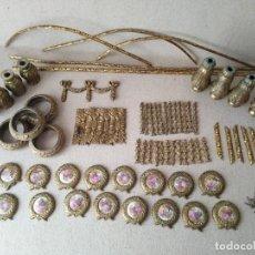 Antigüedades: PIEZAS DE BRONCE PARA RESTAURACIONES (70 PIEZAS APROX). Lote 170183360