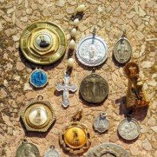 Antigüedades: LOTE DE MEDALLAS RELIGIOSAS LOTE 3. Lote 170183976