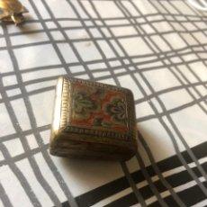 Antigüedades: CAJITA BRONCE ANTIGUA PARA EL ANILLO. Lote 170192320