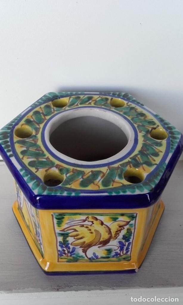 Antigüedades: Tintero cerámica Triana - Foto 5 - 170109344